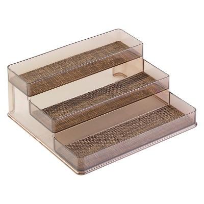 Interdesign Twillo Spice Rack, 3-Tier Organizer - Bronze/Sand (Large)