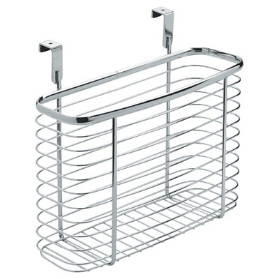 InterDesign Axis Over-the-Cabinet X5 Steel Storage Basket - Chrome (11 )