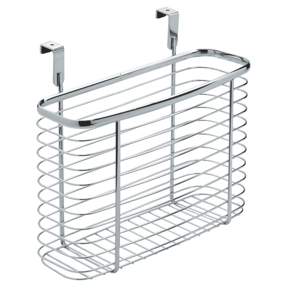 InterDesign Axis Over-the-Cabinet X5 Steel Storage Basket - Chrome (Grey) (11)