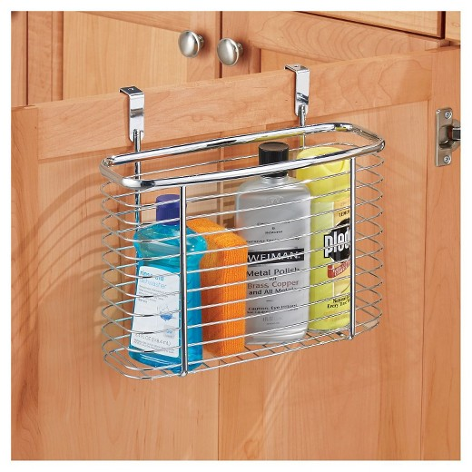 $9.89 - InterDesign Axis Over-the-Cabinet X5 Steel Storage Basket - Chrome
