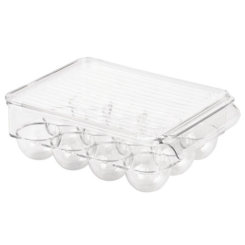 InterDesign Fridge Binz 12-Egg Holder with Lid - Clear (Small) - image 1 of 3