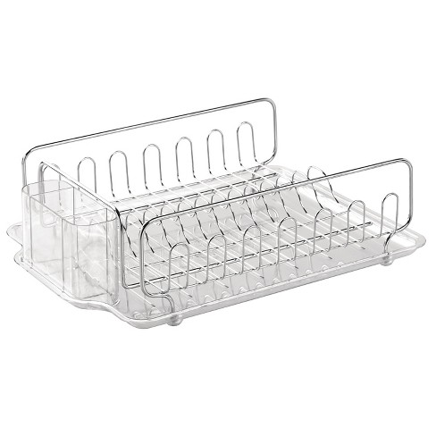 InterDesign Forma Lupe Stainless Steel Dish Drainer - Clear (Large) - image 1 of 1