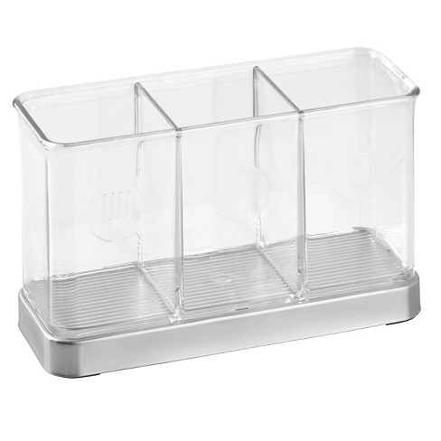 InterDesign Forma Stainless Steel Flatware Organizer - Brushed/Clear - image 1 of 3