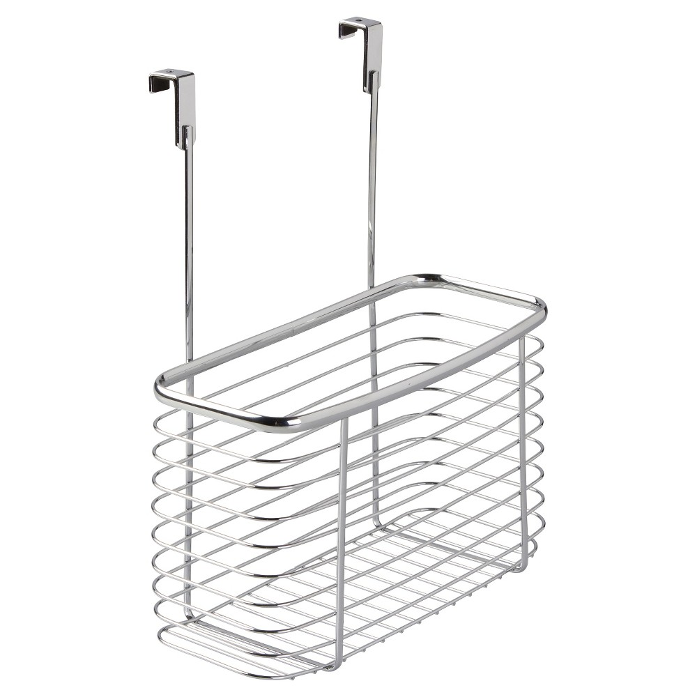 InterDesign Axis Over-the-Cabinet X7 Storage Basket - Chrome (Grey) (14)
