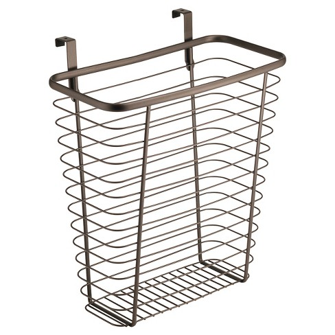 "InterDesign Axis Over-the-Cabinet Steel Wastebasket - Bronze (14"") - image 1 of 3"