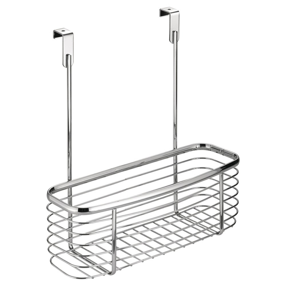 InterDesign Axis Over-the-Cabinet X2 Storage Basket - Chrome (Grey) (11)