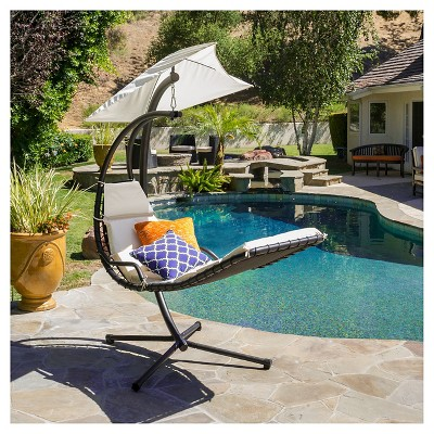 Christopher Knight Home La Vida Steel Patio Hanging Chair