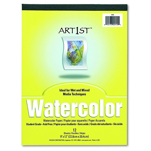 Pacon® Artist Watercolor Paper Pad - White (12 Sheets) - image 1 of 1