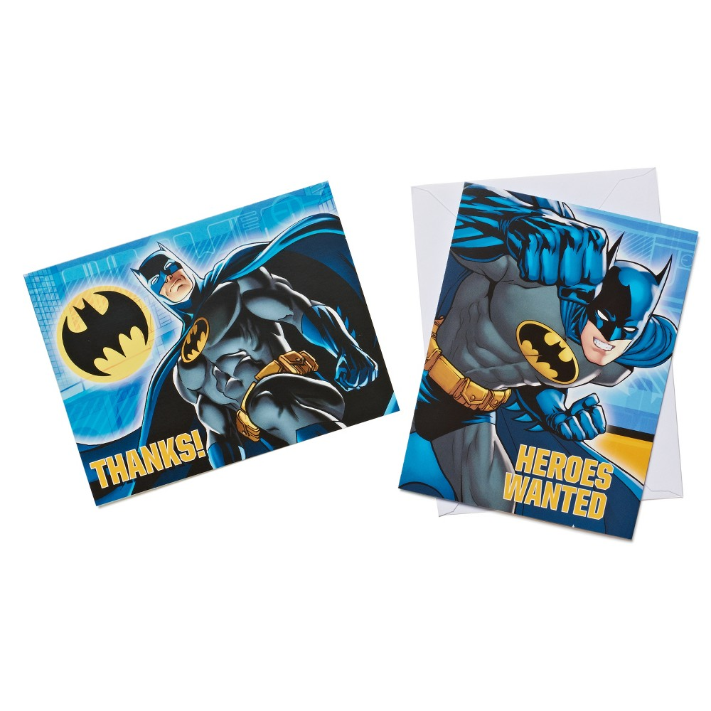 Batman Invitation and Thank You Card Pack