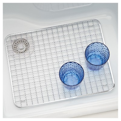 InterDesign Gia Stainless Steel Sink Grid   Polished Chrome (Large)