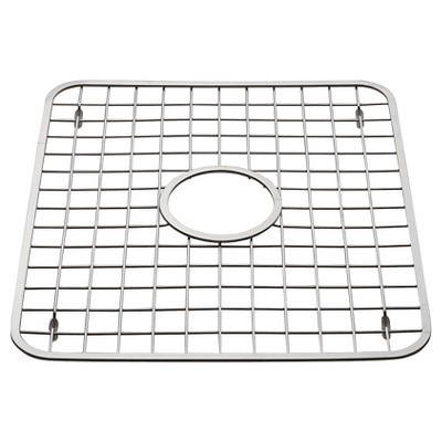 InterDesign Gia Stainless Steel Sink Grid with Drain Hole - Chrome (Regular)