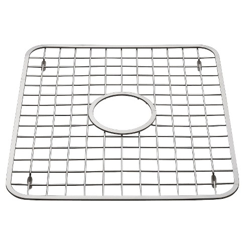 InterDesign Gia Stainless Steel Sink Grid with Drain Hole - Chrome (Regular) - image 1 of 2