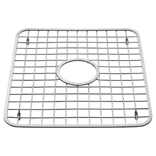 InterDesign Gia Stainless Steel Sink Grid with Drain Hole - Chrome ...