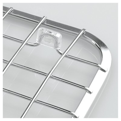 InterDesign Gia Stainless Steel Sink Grid With Drain Hole   Chrome (Regular)