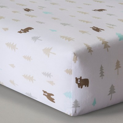 Circo™ Woven Fitted Crib Sheet - Little Cub