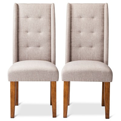 Charlie Pin Tuck Dining Chair -Taupe (Set of 2)