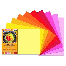Pacon® Tru-Ray Construction Paper, 76 lbs - Multi-Colored (25 Sheets Per Pack)