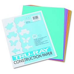 "Paper 9"" X 12"" Pacon Multi-colored Shocking Pink Lime Turquoise"