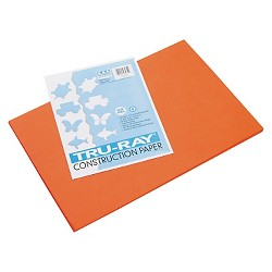 Pacon® Tru-Ray Construction Paper, 76 lbs, 12 x 18 - Orange (50 Sheets Per Pack)