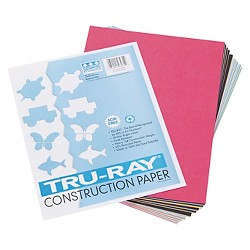 Pacon® Tru-Ray Construction Paper, 76 lbs, 9 x 12 - Multi - Colored (50 Sheets Per Pack)