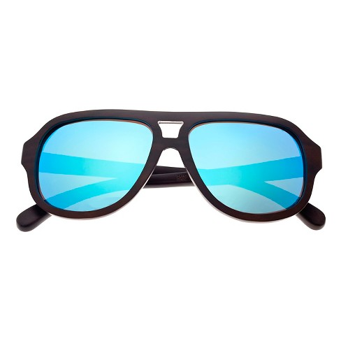 Earth Wood Cannon Unisex Sunglasses with Blue Lens - Brown - image 1 of 2