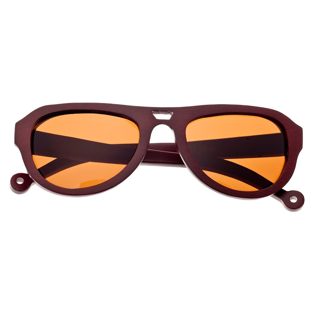 Earth Wood Coronado Unisex Sunglasses with Brown Lens - Red, Red Oak