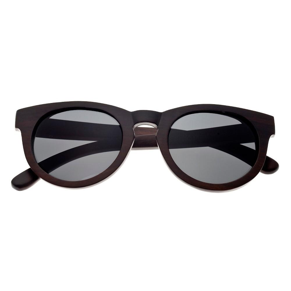 Earth Wood Wildcat Unisex Sunglasses with Black Lens - Brown, Dark Oak