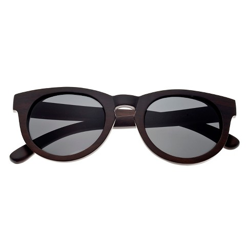 Earth Wood Wildcat Unisex Sunglasses with Black Lens - Brown - image 1 of 2