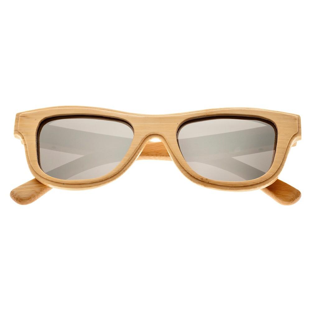 Earth Wood Westport Unisex Sunglasses with Silver Lens - Beige, Green