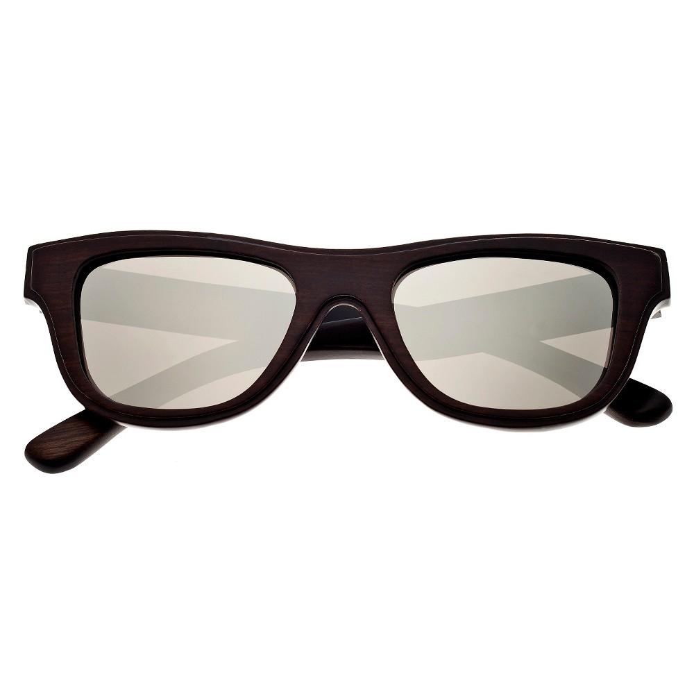 Earth Wood Westport Unisex Sunglasses with Silver Lens - Brown, Dark Oak