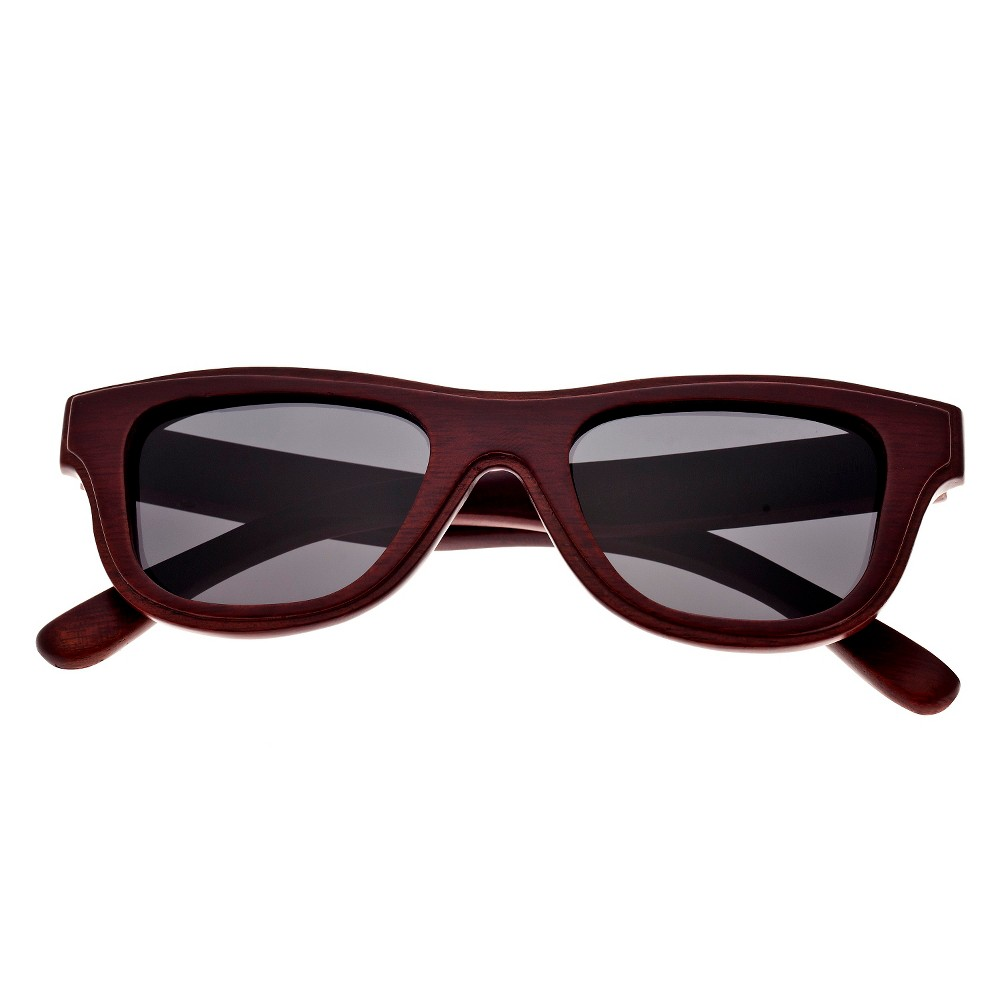 Earth Wood Westport Unisex Sunglasses with Black Lens - Red, Red Oak