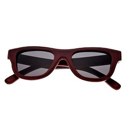 Earth Wood Westport Unisex Sunglasses with Black Lens - Red