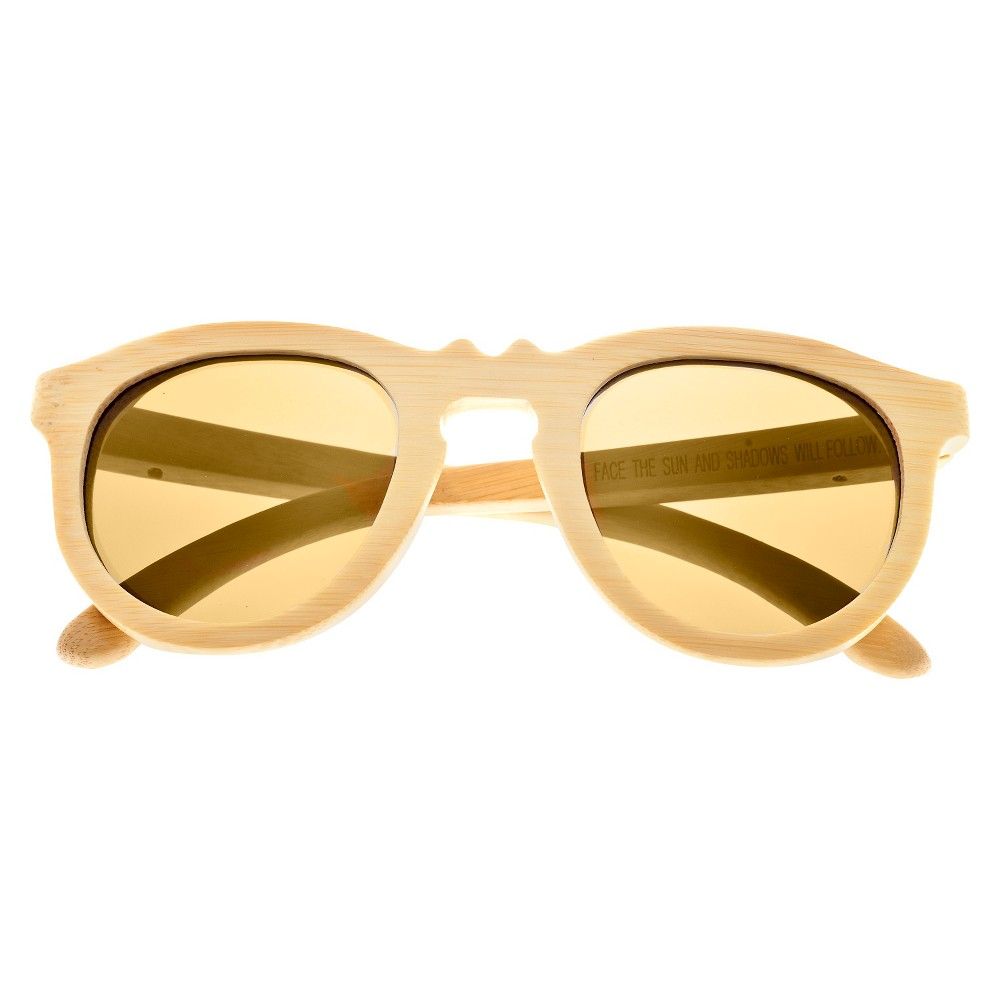 Earth Wood Venice Unisex Sunglasses with Gold Lens - Beige, Green