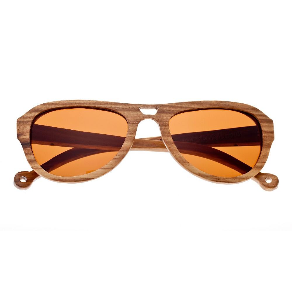 Earth Wood Coronado Unisex Sunglasses with Brown Lens - Bark