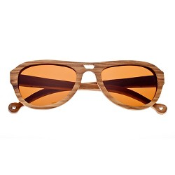 Earth Wood Coronado Unisex Sunglasses with Brown Lens - Bark
