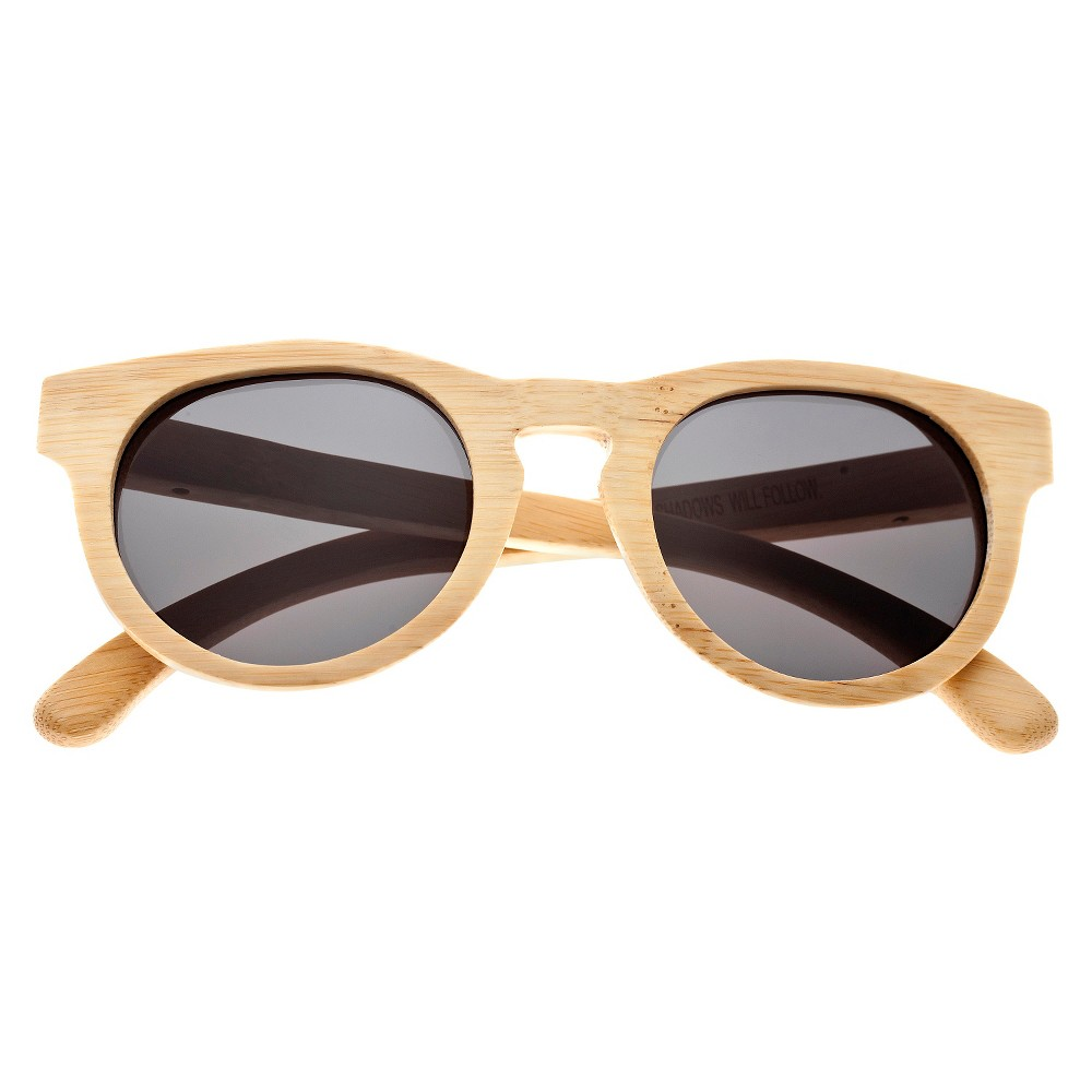 Earth Wood Manhattan Unisex Sunglasses with Black Lens - Beige, Green