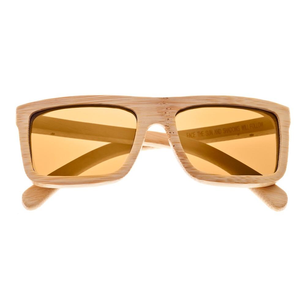 Earth Wood Hamoa Unisex Sunglasses with Gold Lens - Beige, Green