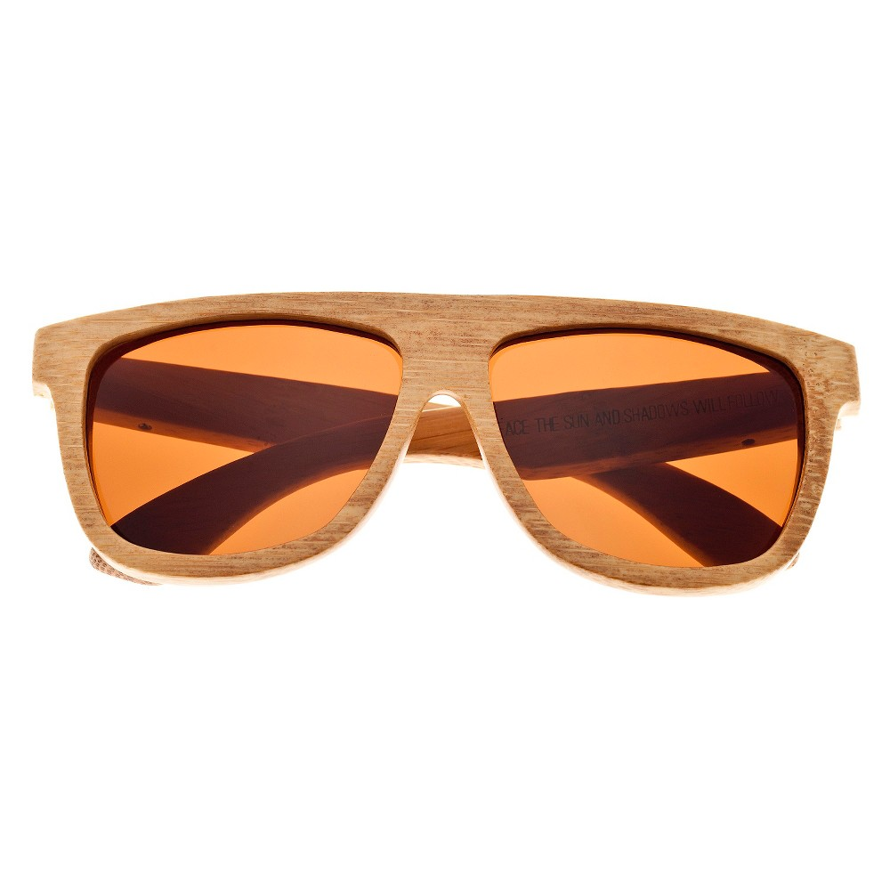 Earth Wood Imperial Unisex Sunglasses with Brown Lens - Beige, Green