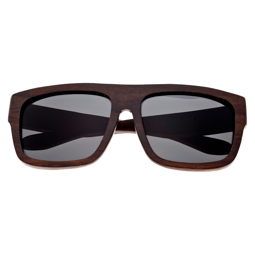 Earth Wood Imperial Unisex Sunglasses with Black Lens - Brown, Dark Oak