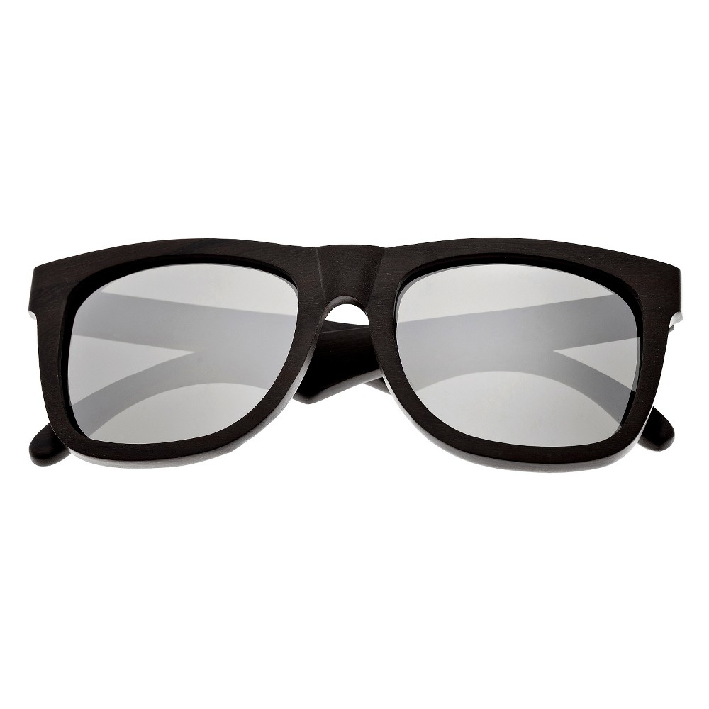 Earth Wood Hampton Unisex Sunglasses with Black Lens - Brown, Dark Oak