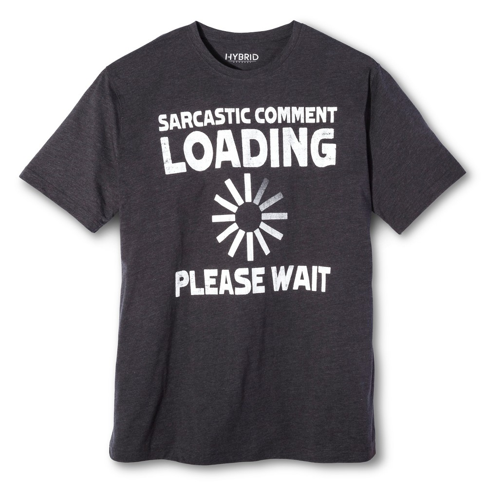 Men's Big & Tall Sarcastic Comment T-Shirt Charcoal L Tall, Gray