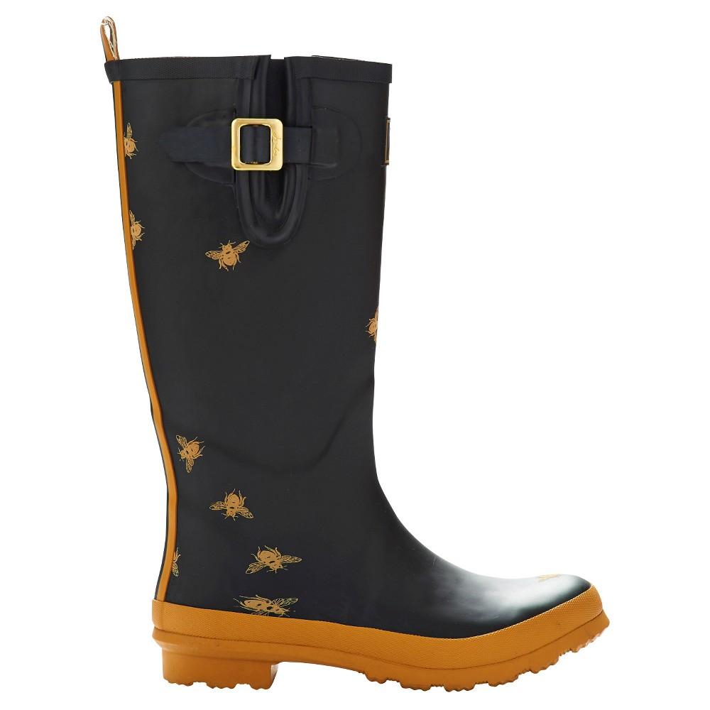 Womens Joules Rain Boots - Black 5