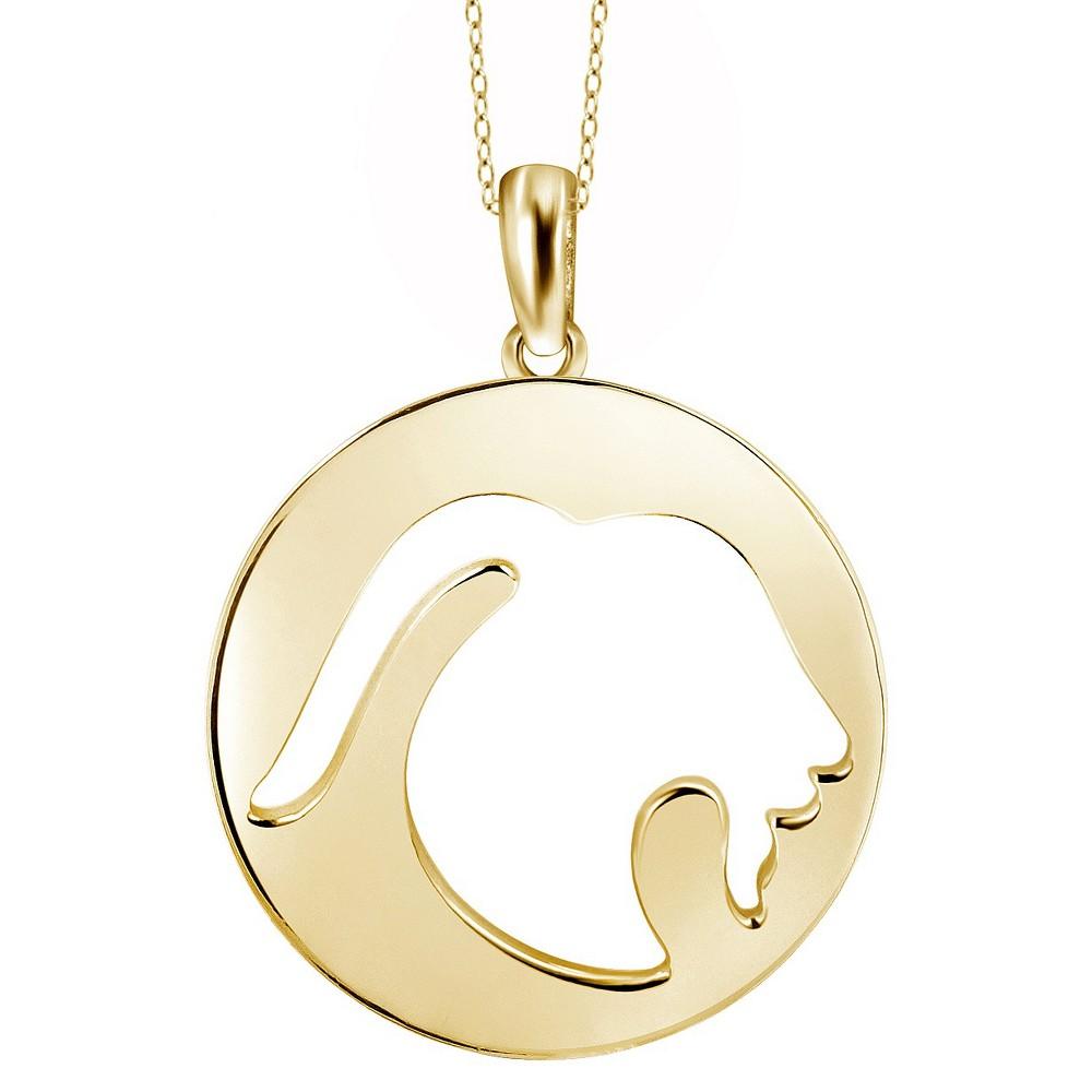 Capricorn Zodiac Pendant Necklace - 18, Womens, Yellow