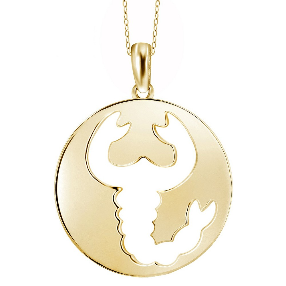 Womens Scorpio Zodiac Pendant (18), Yellow