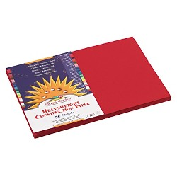 SunWorks® Construction Paper, 58 lbs, 12 x 18 - Red (50 Sheets Per Pack)