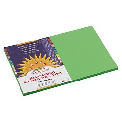SunWorks® Construction Paper, 58 lbs, 12 x 18 - Green (50 Sheets Per Pack)