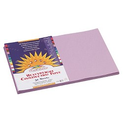 SunWorks® Construction Paper, 58 lbs, 12 x 18 - Lilac (50 Sheets Per Pack)