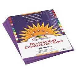 SunWorks® Construction Paper, 58 lbs, 9 x 12 - Violet (50 Sheets Per Pack)