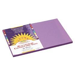 SunWorks® Construction Paper, 58 lbs, 12 x 18 - Violet (50 Sheets Per Pack)
