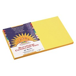 SunWorks® Construction Paper, 58 lbs, 12 x 18 - Yellow, 50 Sheets Per Pack)